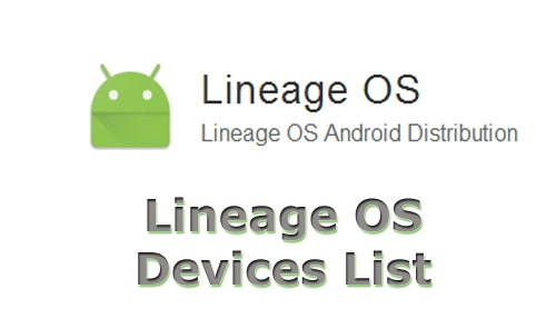 Lineage OS Getting Devices List