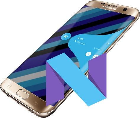 Samsung Galaxy S7 Edge 7.1.1 Nougat OTA Update