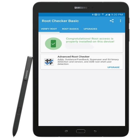 Root Samsung Galaxy Tab S3 SM-T820 Nougat CF-Root