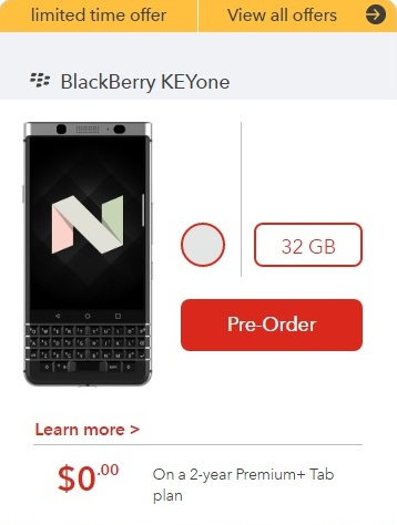 BlackBerry Keyone Pre-Order Begins Via Rogers