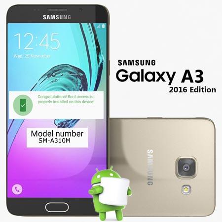Root Samsung Galaxy A3 2016 SM-A310M Marshmallow