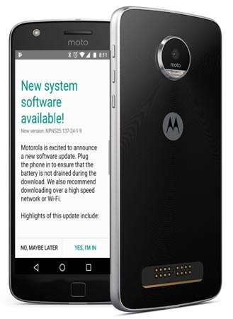Moto Z Play May 2017 OTA Update