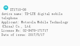 Moto Z2 Play Passes TENAA Proof