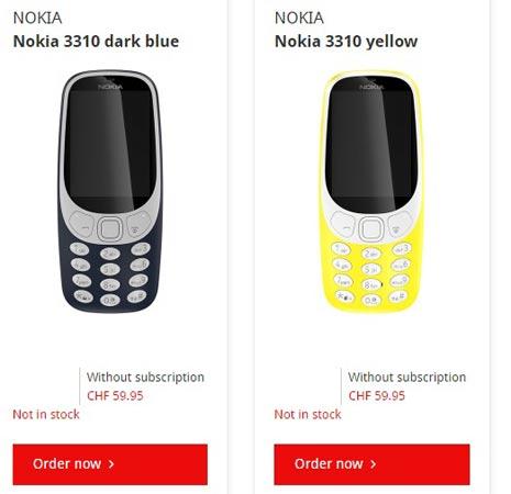 Nokia 3310 Pre-Order Begins Via Mobilezone