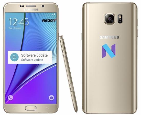 Samsung Galaxy Note 5 Verizon SM-N920V N920VVRS3CQD1 OTA Update