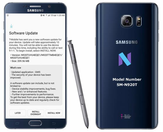 Samsung Galaxy Note 5 T-Mobile SM-N920T May 2017 OTA