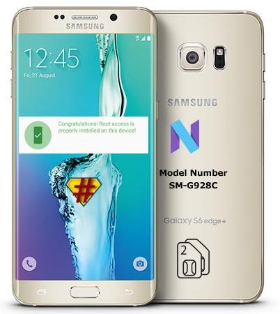 Root Samsung Galaxy S6 Edge Plus SM-G928C Nougat CF-Root