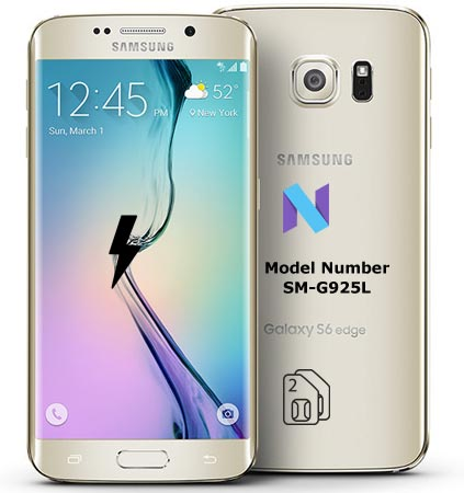 Samsung Galaxy S6 Edge SM-G925L Nougat Firmware