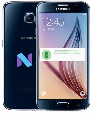 Root Samsung Galaxy S6 SM-G920S Nougat CF-Root