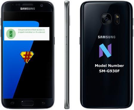 Root Samsung Galaxy S7 SM-G930F Nougat CF-Root