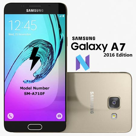 Samsung Galaxy A7 2016 SM-A710F Nougat Official Firmware