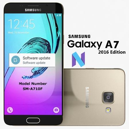 Samsung Galaxy A7 2016 SM-A710F Nougat OTA