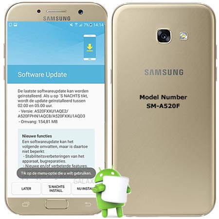 Samsung Galaxy A5 2017 SM-A520F May 2017 OTA