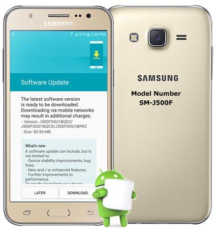 Samsung Galaxy J5 SM-J500F May 2017 OTA