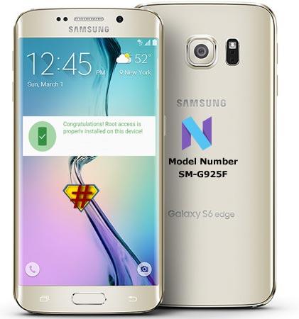 Root Samsung Galaxy S6 Edge SM-G925F Nougat CF-Root
