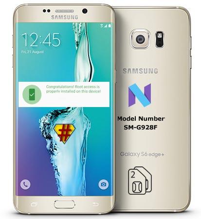 Root Samsung Galaxy S6 Edge Plus SM-G928F Nougat CF-Root