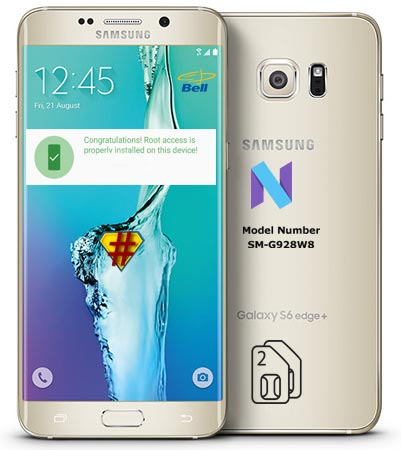 Root Samsung Galaxy S6 Edge Plus Canada SM-G928W8 Nougat CF-Root