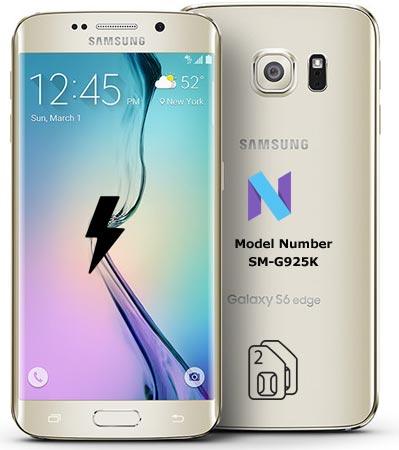 Samsung Galaxy S6 Edge SM-G925K Nougat Firmware