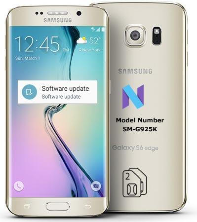 Samsung Galaxy S6 Edge SM-G925K Nougat OTA