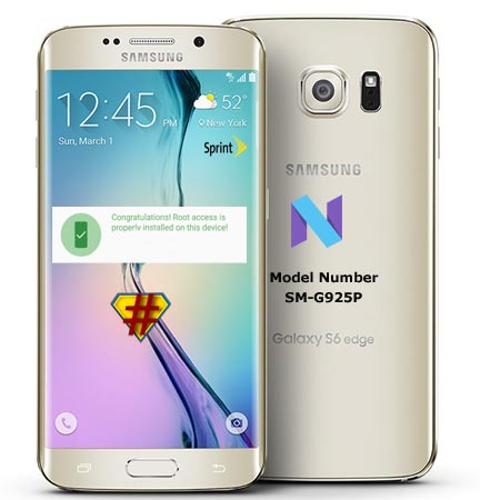 Root Samsung Galaxy S6 Edge Sprint SM-G925P Nougat CF-Root
