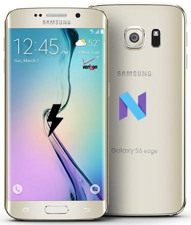 Samsung Galaxy S6 Edge Verizon SM-G925V Nougat Official Firmware