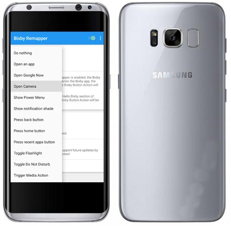 Remap Bixby Key Samsung Galaxy S8 Plus Using App