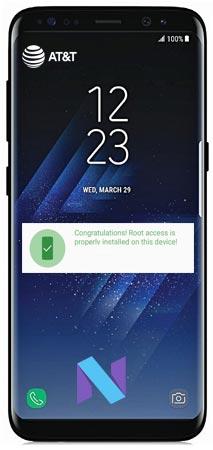 Root Samsung Galaxy S8 Plus AT&T SM-G955U Nougat