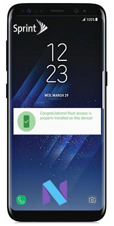 Root Samsung Galaxy S8 Plus Sprint SM-G955U Nougat