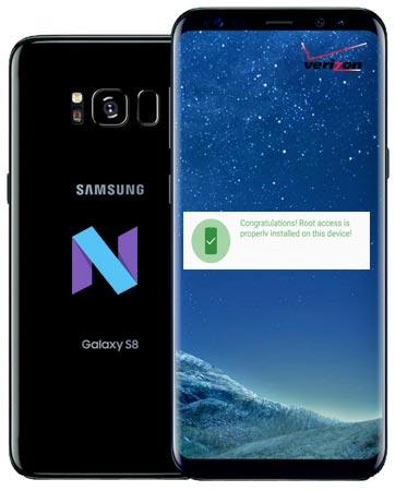 Root Samsung Galaxy S8 Verizon SM-G950U Nougat