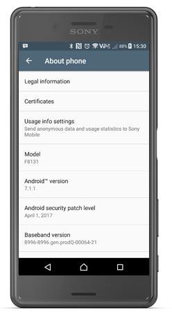 Sony Xperia X Performance Canada Nougat 7.1.1 OTA Update