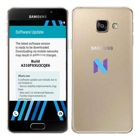 Samsung Galaxy A3 2016 SM A310F Nougat OTA