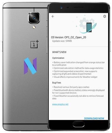 OnePlus 3 Oxygen OS Open Beta 20 Firmware