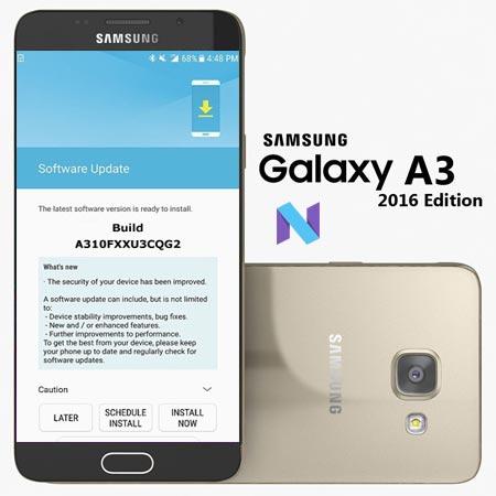 Samsung Galaxy A3 2016 SM A310F August 2017 OTA