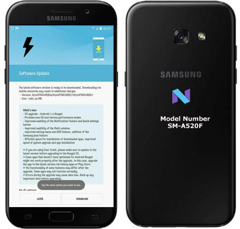 Samsung Galaxy A5 2017 SM-A520F Nougat Firmware