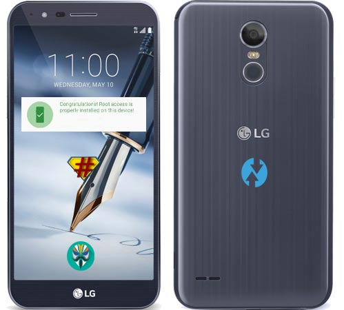 Root LG Stylo 3 Plus Nougat Install TWRP