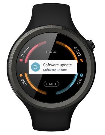 Moto 360 Sport Android Wear 2.0 OTA