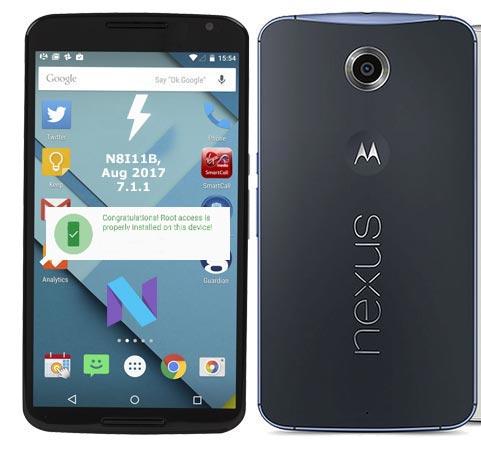 Root Google Nexus 6 N8I11B Nougat 7.1.1