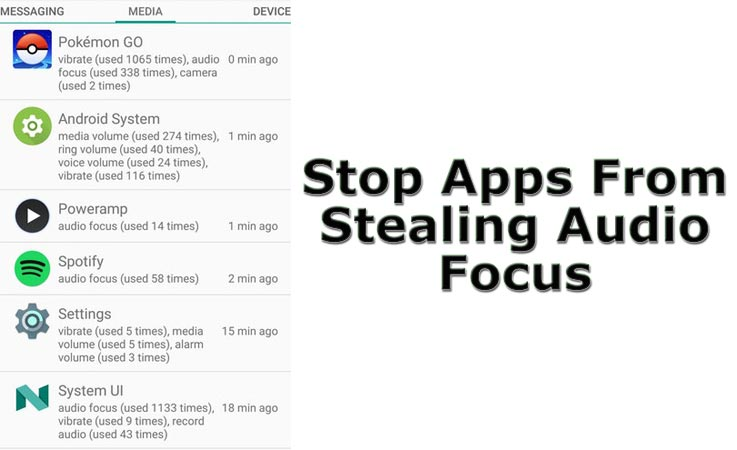 stop apps stealing audio focus without root