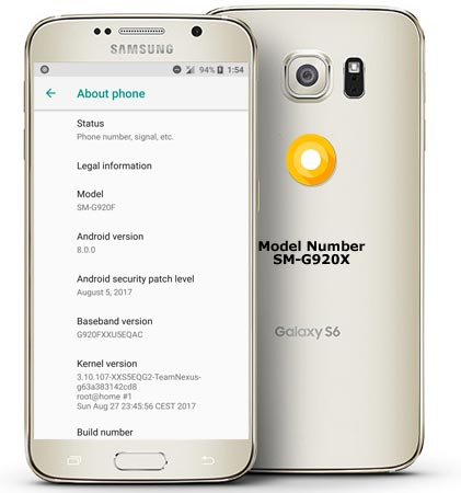 Samsung Galaxy S6 Lineage Oreo Unofficial ROM