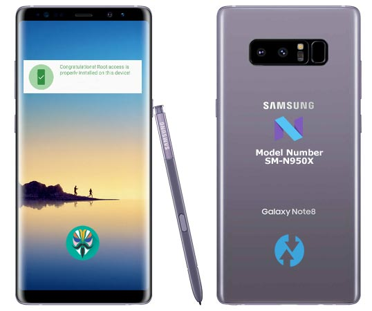 Root Samsung Galaxy Note 8 SM-N950X Nougat Install TWRP