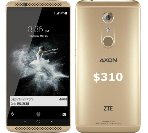 ZTE Axon 7 September 2017 Deal $310