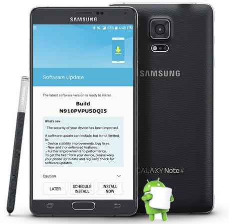 Samsung Galaxy Note 4 Sprint SM-N910P October 2017 OTA