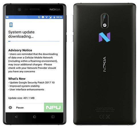 Nokia 3 October 2017 OTA Update