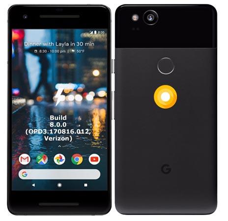 Google Pixel 2 Verizon OPD3.170816.012 Oreo 8.0