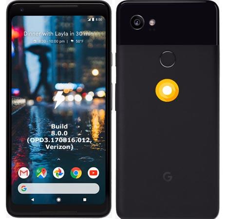 Google Pixel 2 XL Verizon OPD3.170816.012 Oreo 8.0