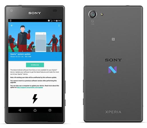 Прошивка Sony Z5 Compact