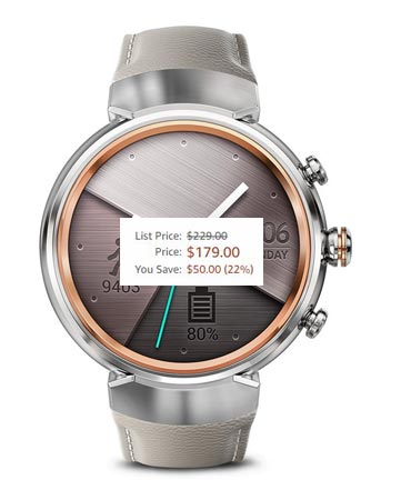 ASUS ZenWatch 3 Cyber Monday 2017 Deal For $179