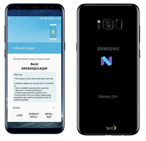 Samsung S8 Plus Sprint SM-G955U November 2017 OTA