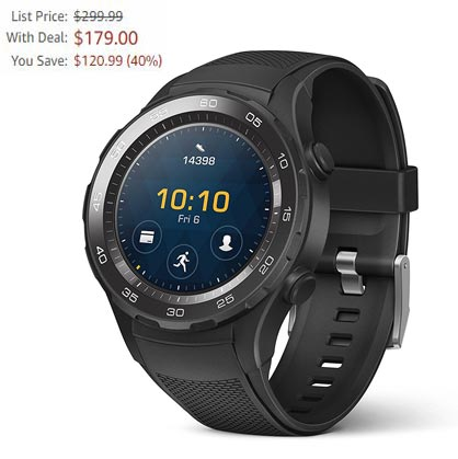 Huawei Watch 2 Black Friday 2017 Deal For $179