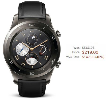 Huawei Watch 2 Classic Black Friday 2017 Deal For $219